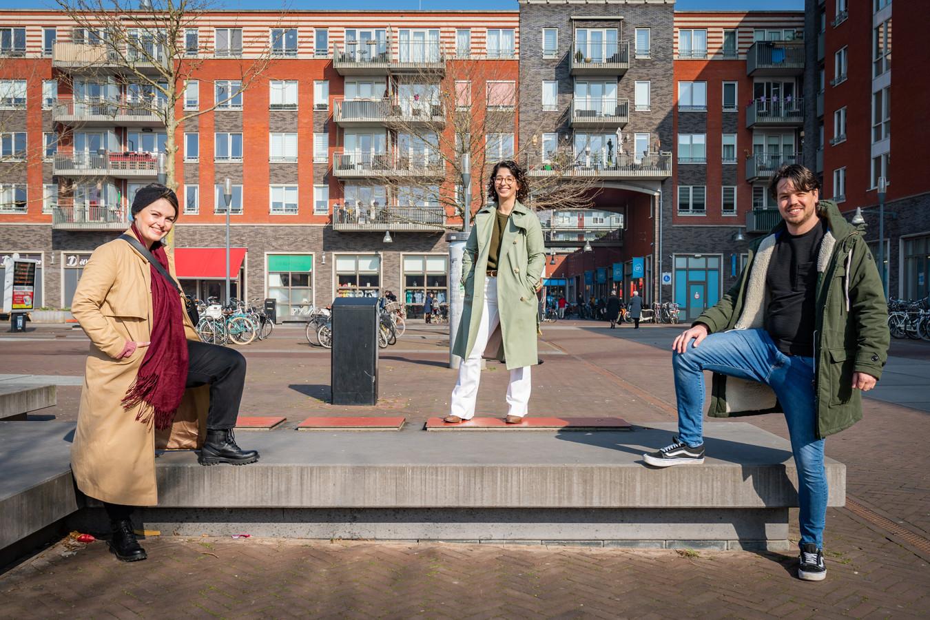 Karolina Ursem, Isadora Alves en Klaas Jongsma in Castellum (Houten-Zuid) zijn de drijvende krachten achter de eerste editie van de Houtense Spelen.