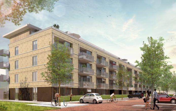 Impressie van een van de nieuwbouwprojecten in Breda, Haag5 aan de Haagweg.