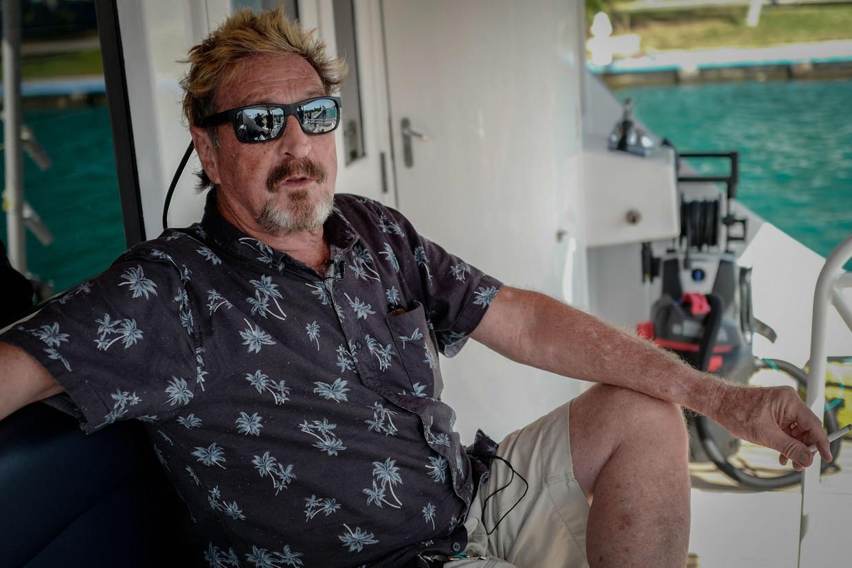 John McAfee op zijn jacht in Cuba, juli 2019.
