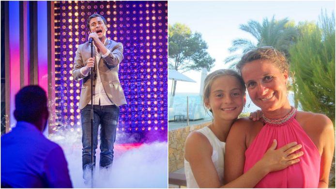 Niels Destadsbader bracht het nummer gisterenavond bij Gert en James. Het gaat over zijn vriendin Caroline, hier samen op de foto met haar dochter Camille.