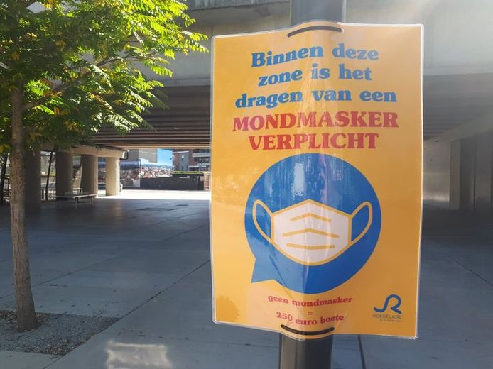 Roeselare schaft vanaf zaterdag de mondmaskerplicht op verschillende locaties in het centrum af.
