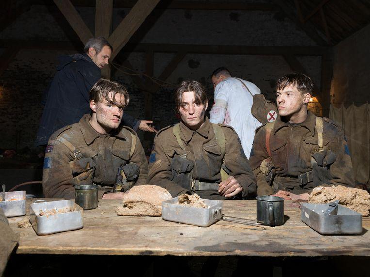 Op de set van De slag om de Schelde. Beeld Ivo van der Bent