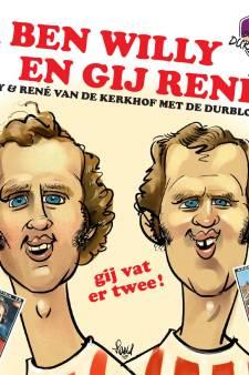 Helmondse voetbaltweeling kan ook rappen: carnavalssingle met Willy en René van de Kerkhof
