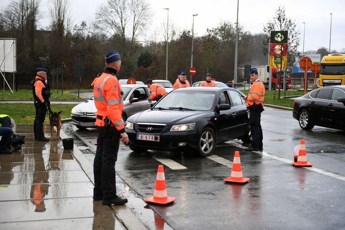 Een controle van de Leuvense politie bij een eerdere actie.
