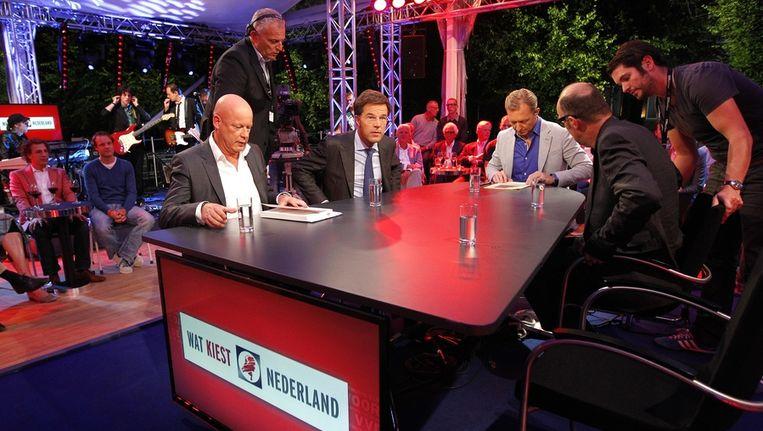 Mark Rutte schuift aan bij het programma Wat kiest Nederland Beeld anp