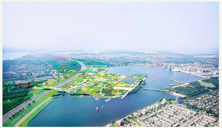 Impressie van de Floriade 2022 in Almere. Beeld Floriade 2022