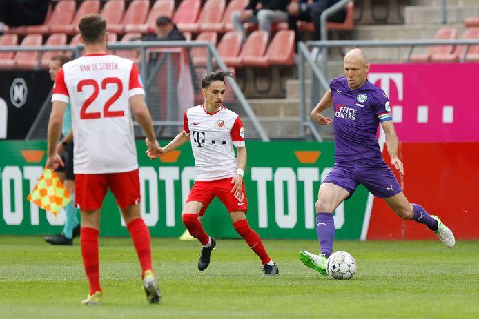 Arjen Robben in actie in zijn laatste wedstrijd tegen FC Utrecht.