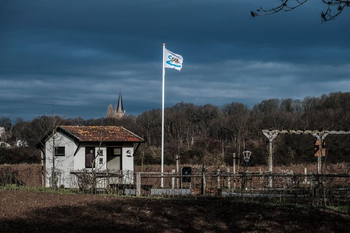 Het uutbloashuukske aan het Pieterpad in Spijk.