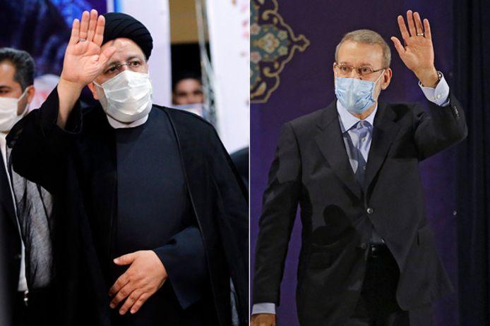 Ebrahim Raisi en  Ali Larijani