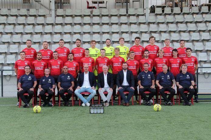 De ploegfoto van Mandel United van vorig seizoen zal straks de nodige wijzigingen ondergaan.