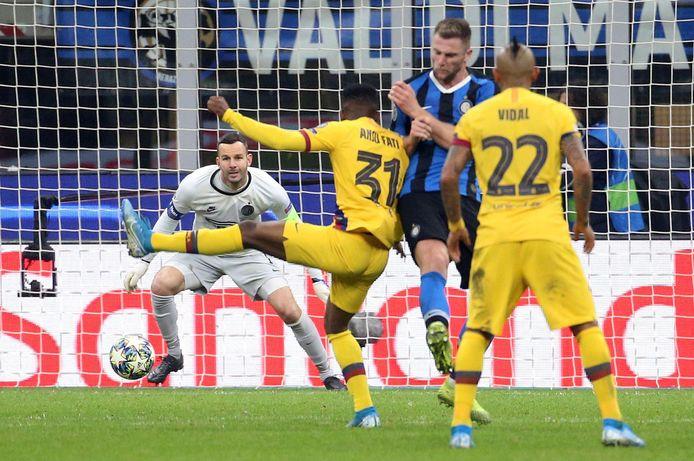 De knal waarmee hij gisteravond scoorde in San Siro: 1-2.