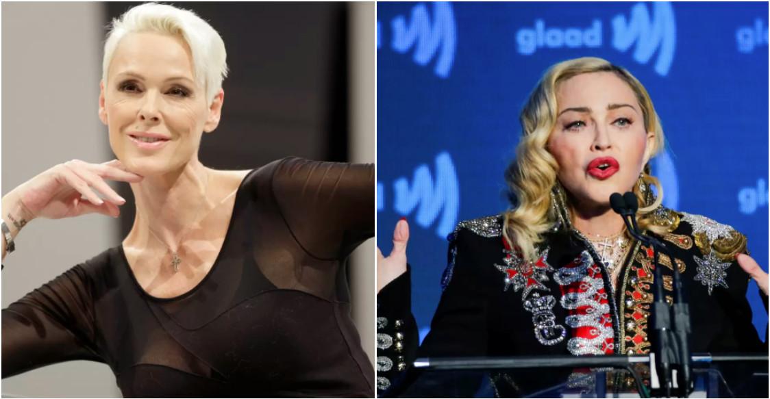 Brigitte Nielsen en Madonna.