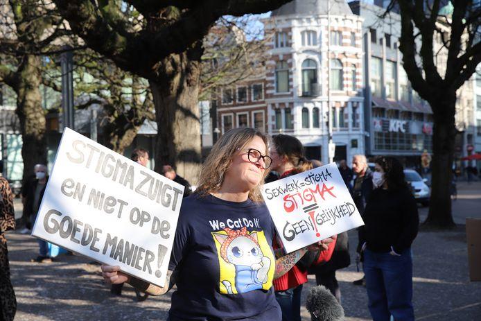 Sekswerkers protesteren vandaag in Den Haag.
