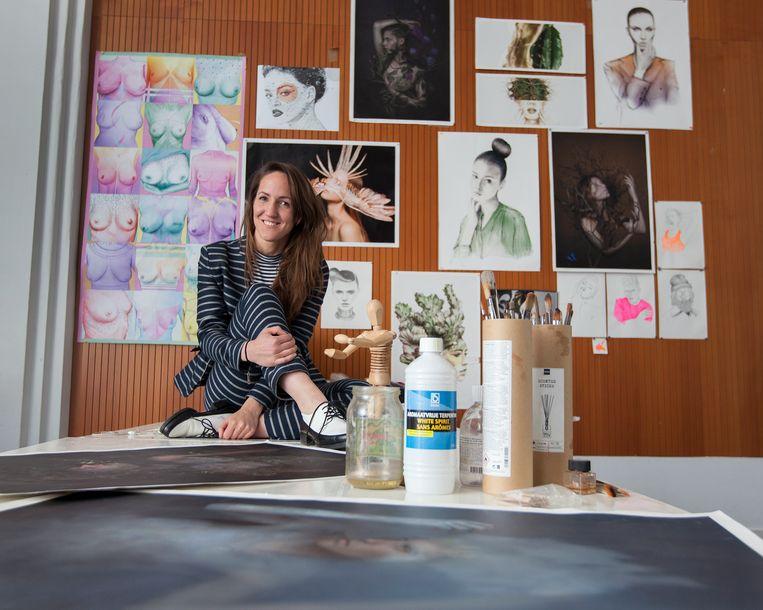 Liselotte Wijma: 'De buitenwereld heeft een verkeerd beeld van de financiële positie van kunstenaars.' Beeld Maartje Geels