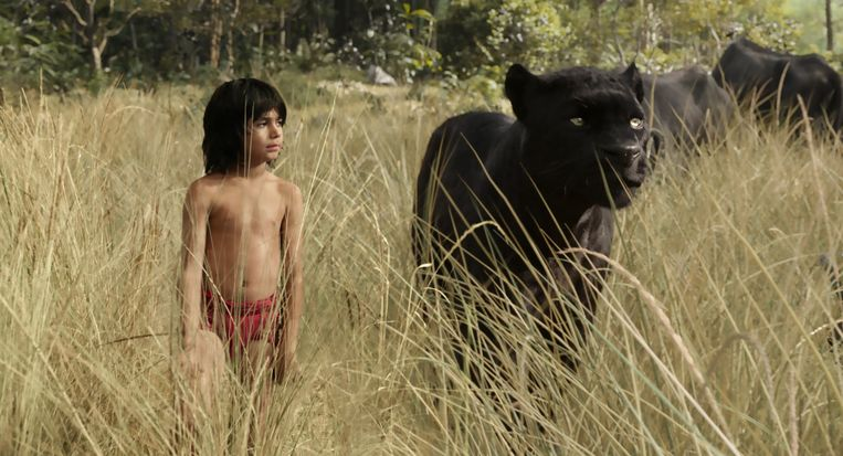 Mowgli en Bagheera Beeld Disney