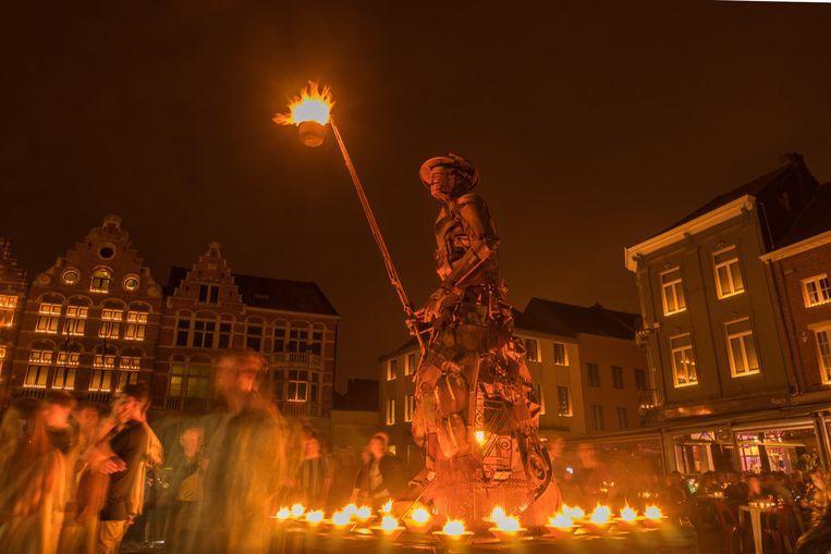 De Sint-Rochusverlichting op de Grote Markt