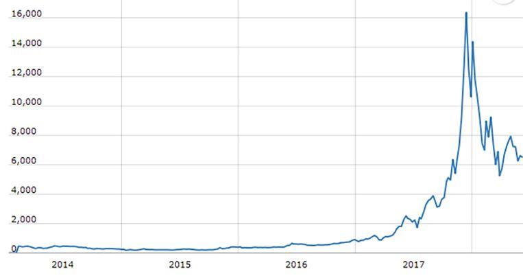 Vroege investeerders hebben optimaal geprofiteerd van de gigantische piek in januari, waarna de koers in elkaar zakte.