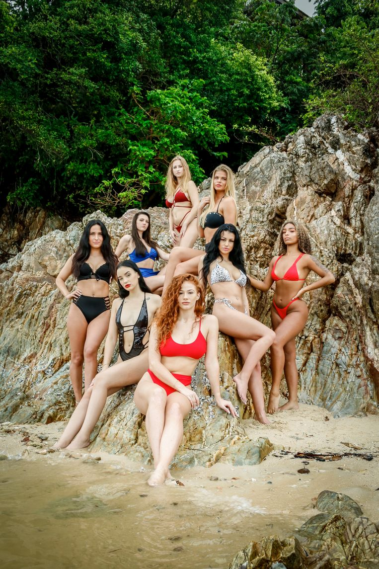 Groepsfoto Vrijgezellen - vrouwen meisjes - Temptation Island 2019