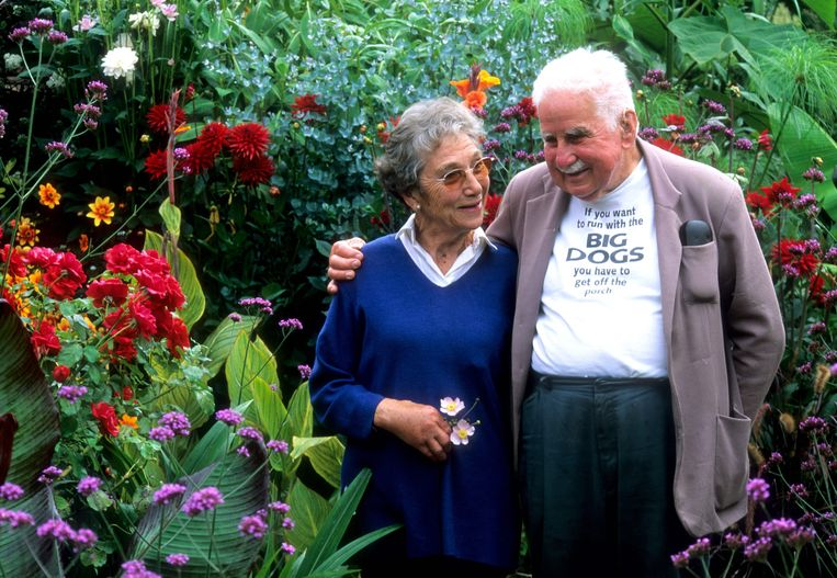 Beth Chatto en Christopher lloyd Beeld