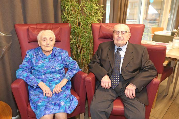 Petronella en Jan-Baptist werden vandaag gevierd in het woonzorgcentrum Walfergem waar ze sinds september verblijven.