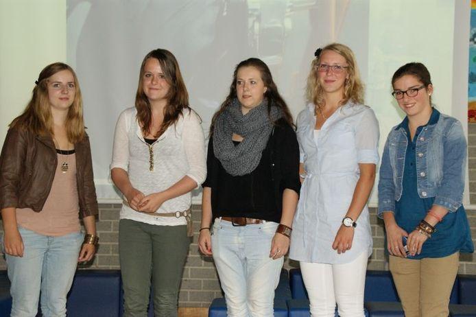 De winnaars van de fotowedstrijd. Foto Mill-Hillcollege.