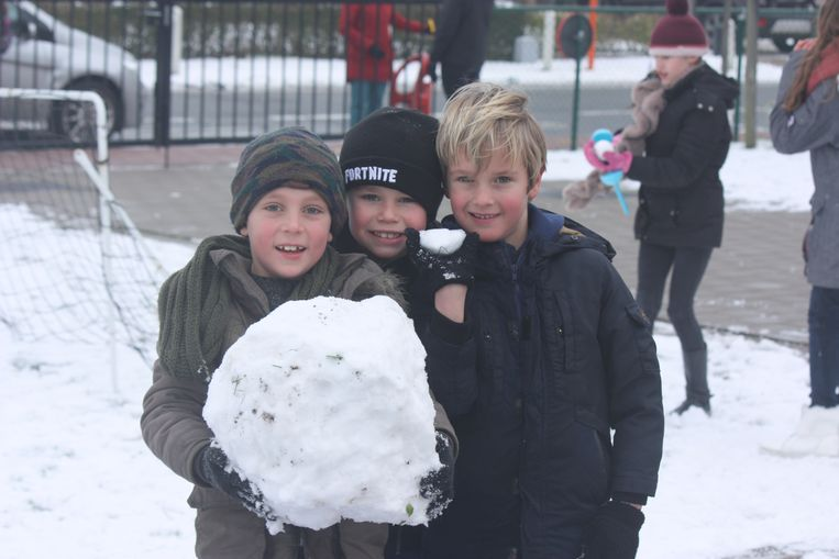 Sneeuwpret in GO! Basisschool de Zandlopertjes vestiging Groenendijk in Bredene