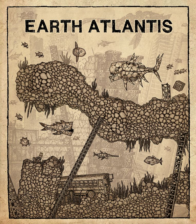 Let vooral op 'Earth Atlantis' zijn aandoenlijke sepiastijl. Beeld Headup Games