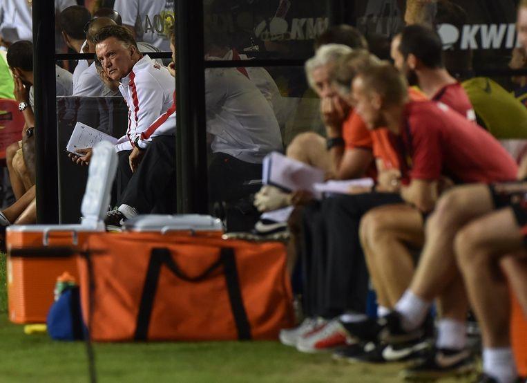 Manchester United-manager Louis van Gaal. Beeld AFP