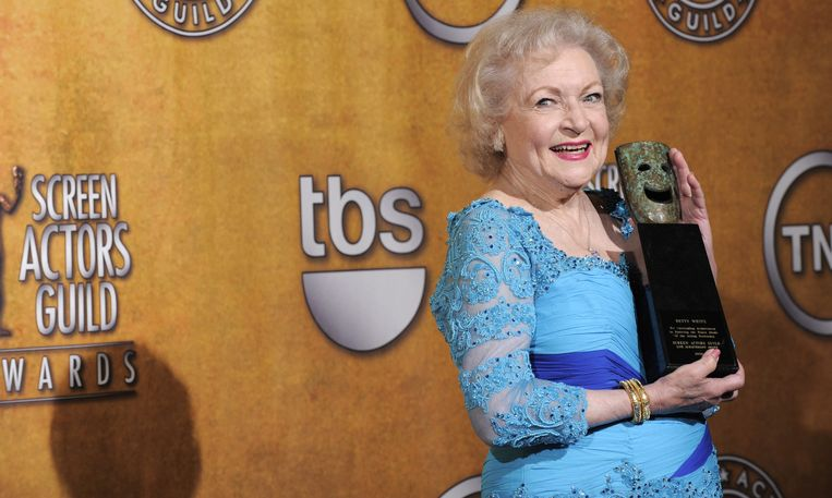 Actrice Betty White, hier in 2010. Beeld EPA