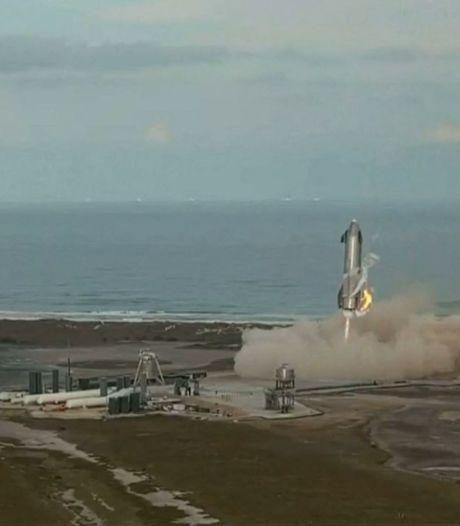 Weer een prototype ruimteschip van SpaceX ontploft vlak na landing