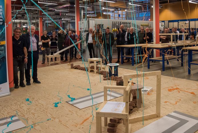 De opening van het nieuwe Techniekplein van het Kempenhorst College in Oirschot.