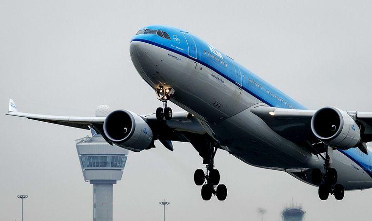 Een vliegtuig op Schiphol  Beeld ANP XTRA