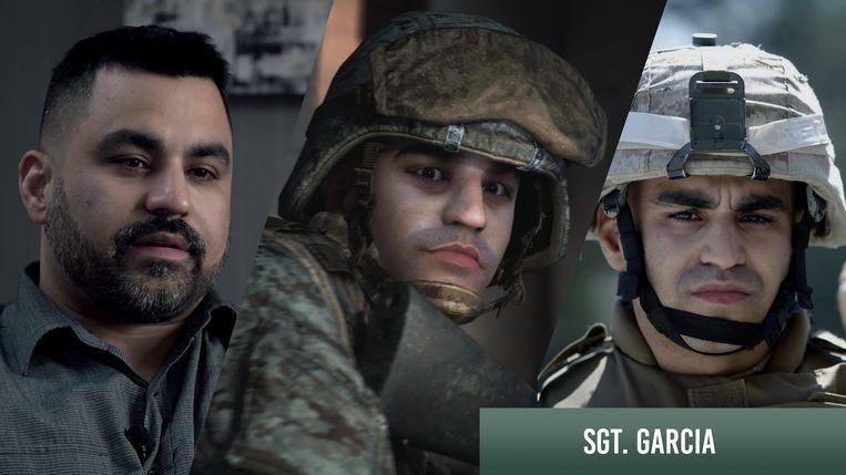 Voormalig marinesergeant Eddie Garcia, die vijftien jaar geleden al het idee voor 'Six Days in Fallujah' had opgegooid, zal wellicht ook een personage in de game zijn (kijk naar het middelste beeld, dat een 3D-model van hem is). Beeld Victura