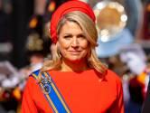 Máxima kiest voor feestelijke creatie met geheimzinnige broche uit de Oranje-kluis