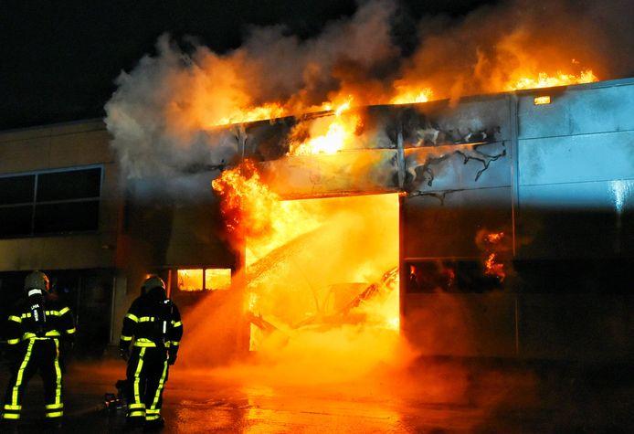 Zeer grote brand in Moergestel
