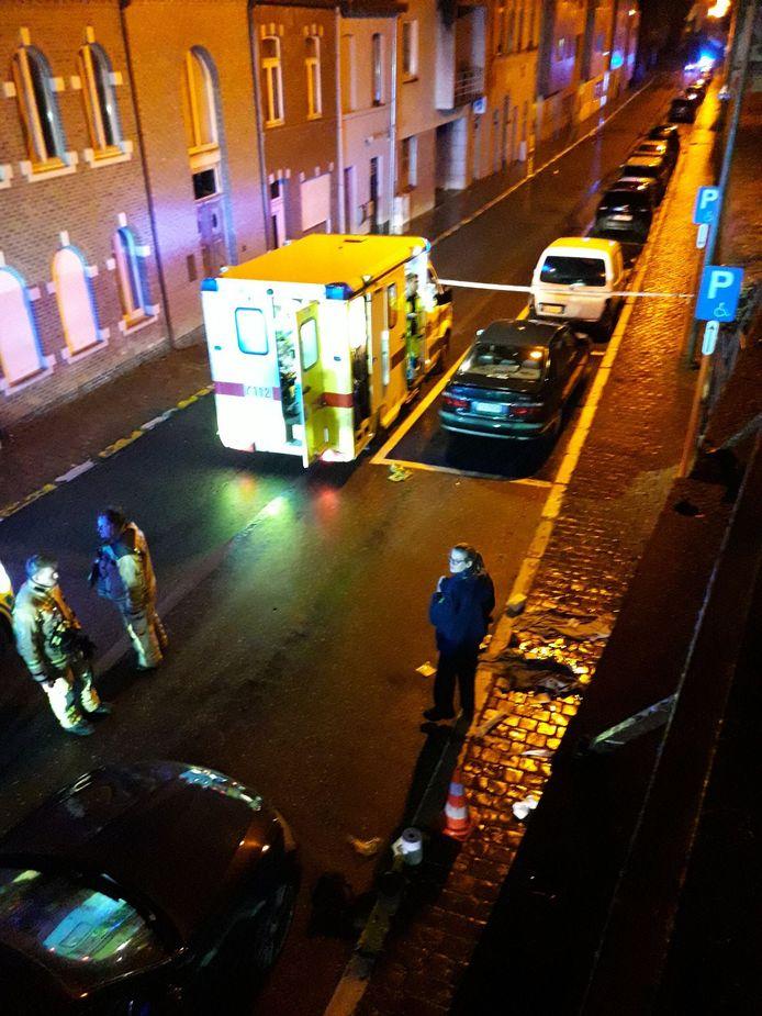 De plaats delict in de Diestsestraat in Aarschot.