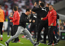 VfB Stuttgart-coach Nico Willig na het eerste doelpunt voor zijn ploeg.