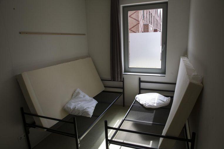 Interieur in een van de gebouwen van het asielzoekerscentrum van COA. Beeld null
