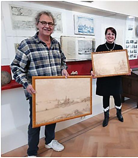 Oud-topman NS Roger van Boxtel schenkt Gorcums Museum drie schilderijen