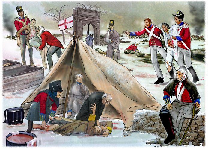 Illustratie veldhospitaal 1794.