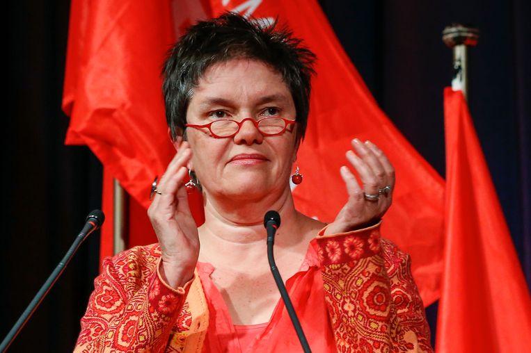 ABVV-topvrouw Caroline Copers. Beeld BELGA