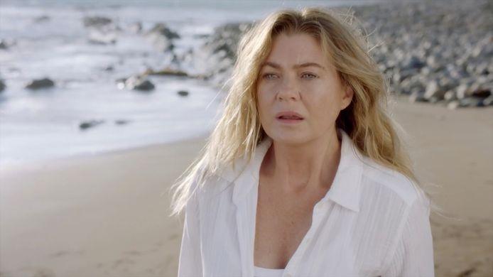 Ellen Pompeo als Meredith Grey in het zeventiende seizoen, dat nu loopt in Amerika en niet op Videoland stond.