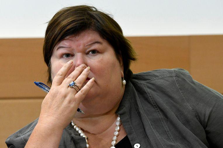 Minister van Gezondheid Maggie De Block (Open Vld). Beeld photo_news