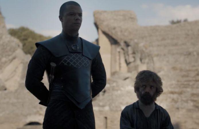Grey Worm wil Jon niet vrijlaten.