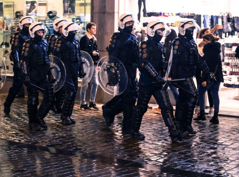 Beeld ter illustratie. Politieagenten in de straten van Brussel. Beeld Photo News