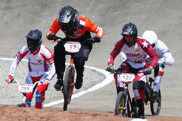 Jelle van Gorkom in actie tijdens de Europese Spelen in Bakoe.