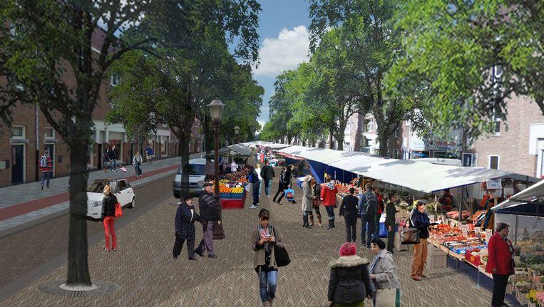 De nieuwe Van der Pekstraat in een artist impression Beeld Stadsdeel Noord