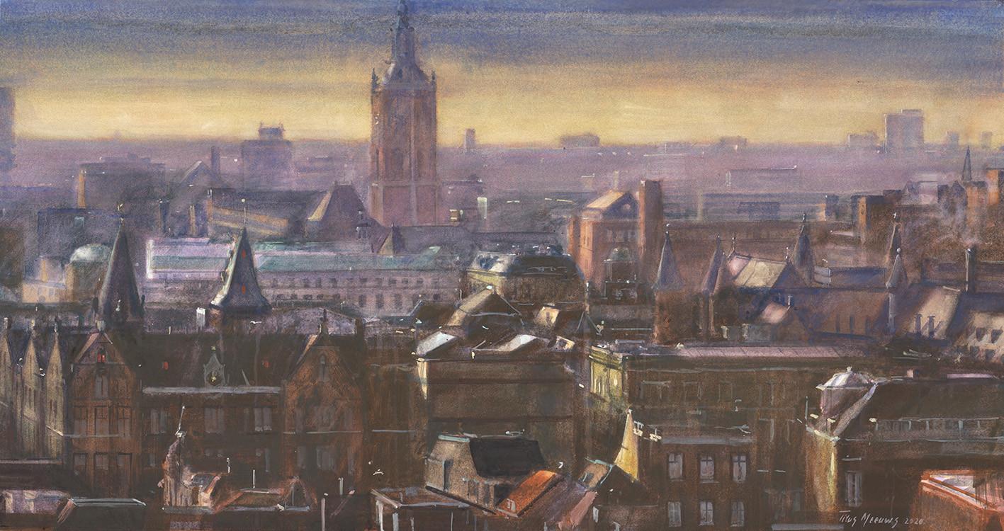 Schilderij van het Binnenhof.