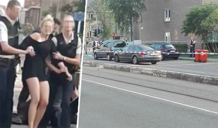 M. zat achter het stuur van de wagen toen een agent op haar vriend schoot.
