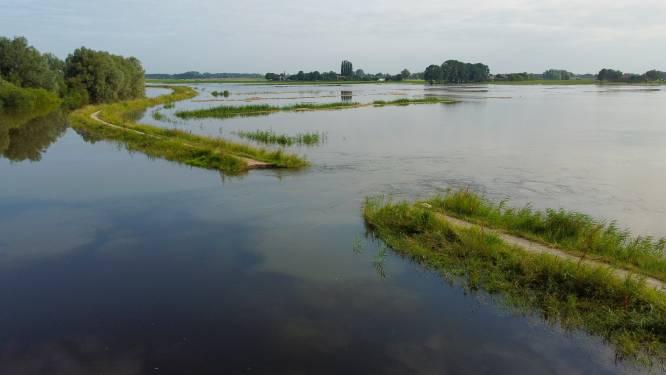Gat in doorgebroken dijk bij Hattem wordt gedicht met 300 grote zandzakken